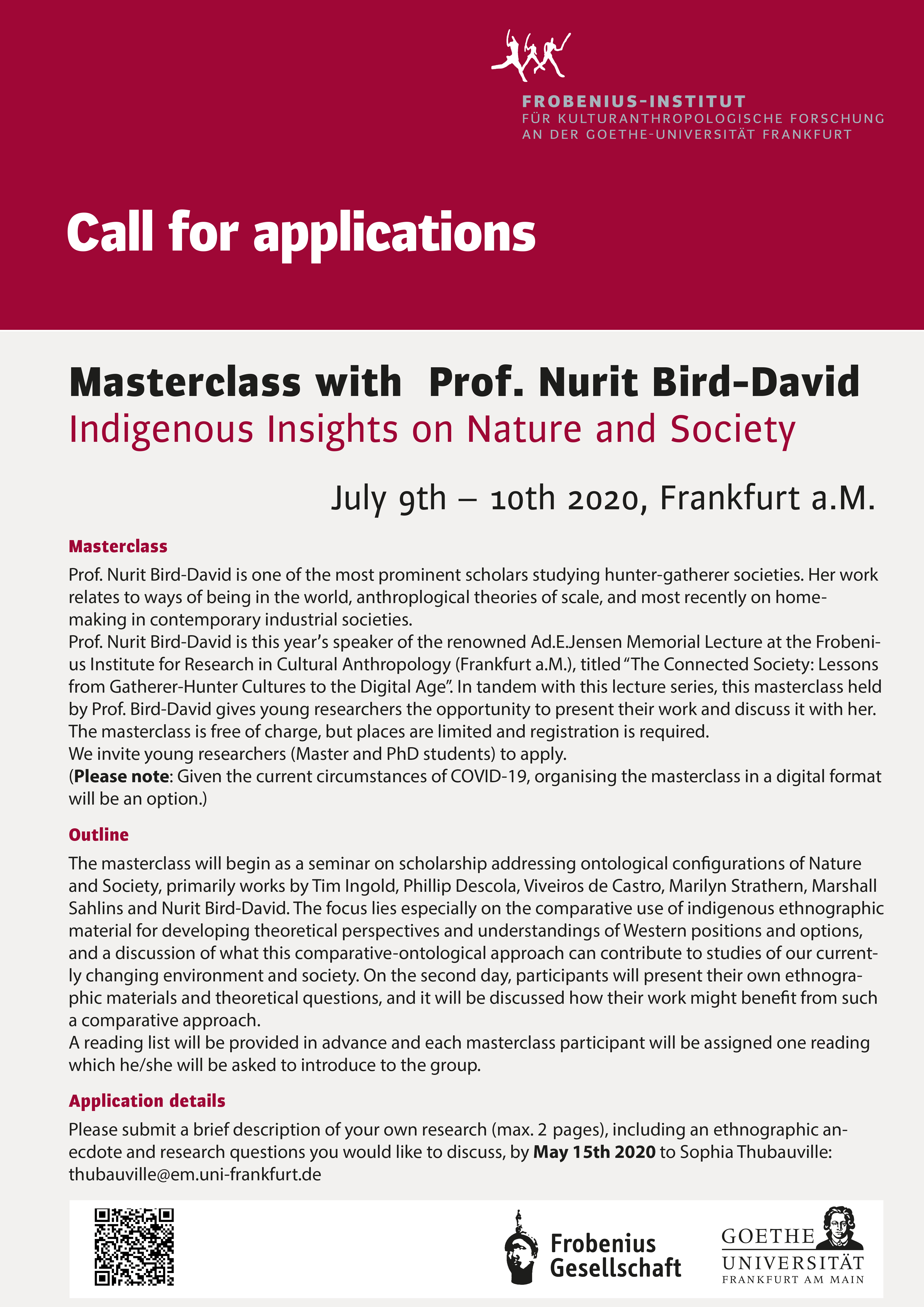 Masterclass Bird David 2020 CfP web